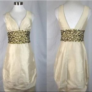 Signature Nicole Miller Ivory Dress Size 6